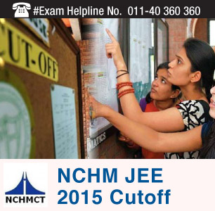 NCHM JEE 2015 Cutoff