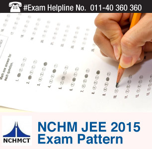 NCHM JEE 2015 Exam Pattern