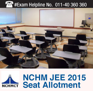 NCHM JEE 2015 Seat Allotment