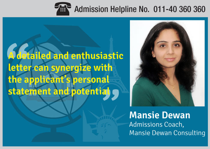 Recommendation letters for study abroad- Mansie Dewan
