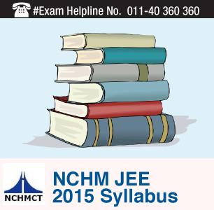 NCHM JEE 2015 Syllabus