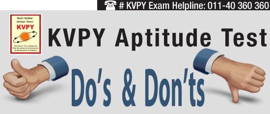 KVPY 2014 aptitude test: Do's and Don'ts