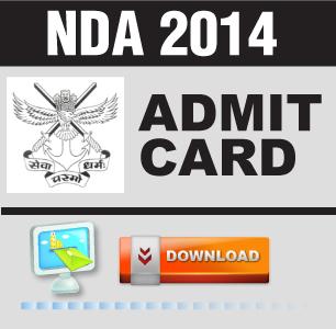 NDA II 2014 Admit Card released