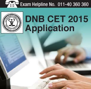DNB CET 2015 Application Form