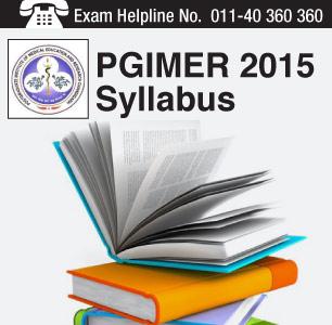PGIMER 2015 Syllabus