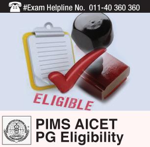 PIMS AICET PG 2015 Eligibility