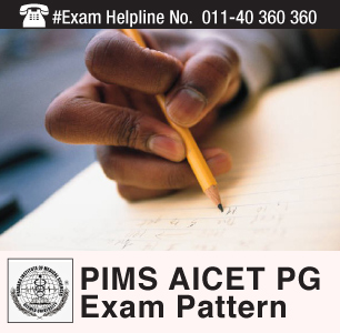 PIMS AICET PG 2015 Exam Pattern