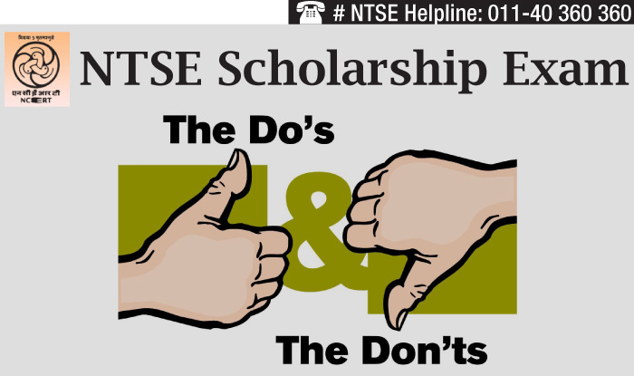 NTSE 2014 scholarship exam: Do's and Don'ts