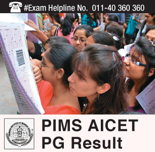 PIMS AICET PG 2015 Result