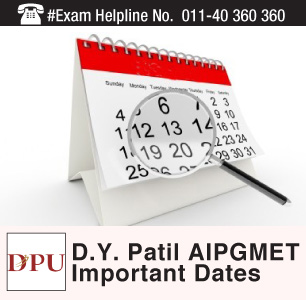 D.Y.Patil AIPGMET 2015 Important Dates
