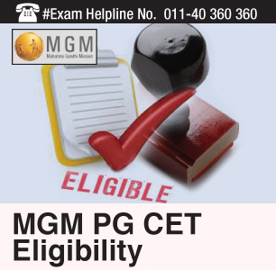 MGM PG CET 2015 Eligibility