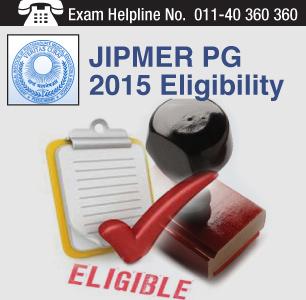 JIPMER PG 2015 Exam Eligibility