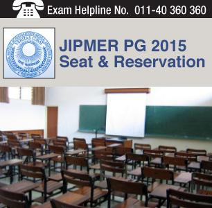 JIPMER PG 2015 Seat & Reservation