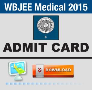 WBJEE Medical 2015 Admit Card