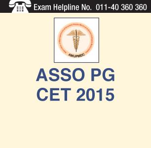 ASSO PG CET 2015