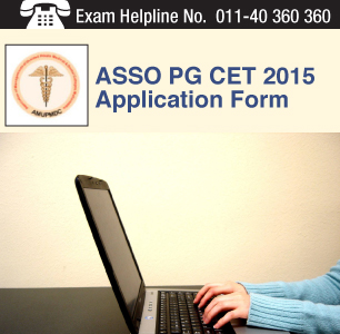ASSO PG CET 2015 Application Form