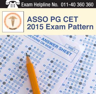 ASSO PG CET 2015 Exam Pattern