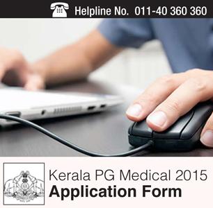 Kerala PG Medical 2015 Application Form
