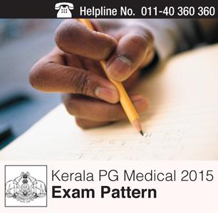 Kerala PG Medical 2015 Exam Pattern