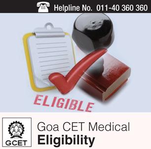 Goa CET Medical 2015 Eligibility