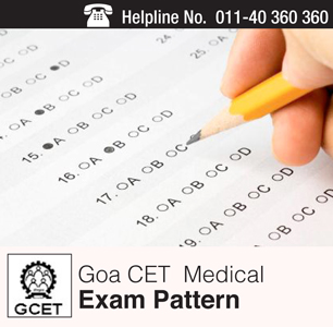 Goa CET Medical 2015 Exam Pattern