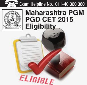 MH PGM PGD CET 2015 Eligibility