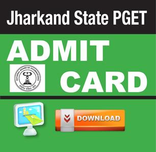 Jharkhand PGET 2015 Admit Card