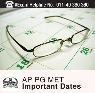 AP PG MET 2015 Important Dates