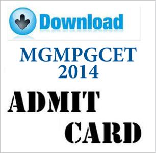 MGM PG CET 2015 Admit Card