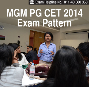 MGM PG CET 2015 Exam Pattern