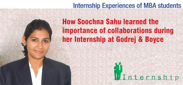 How Soochna Sahu learned the importance of collaborations during her Internship at Godrej & Boyce