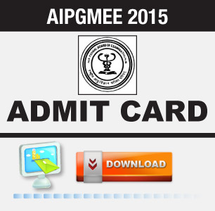 AIPGMEE 2015 Admit Card