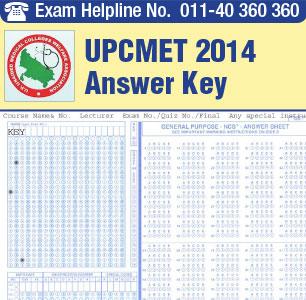 UPCMET 2015 Answer Key