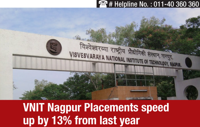 VNIT Nagpur Placements speed up by 13% from last year