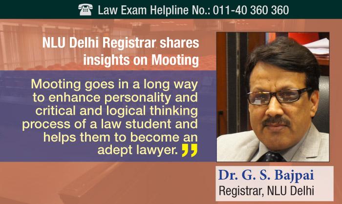NLU Delhi Registrar shares insights on Mooting