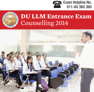DU LLM Entrance Exam 2015 Counselling
