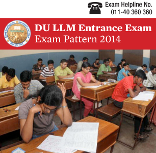DU LLM Entrance Exam 2015 Pattern