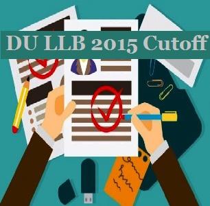 DU LLB 2015 Cutoff