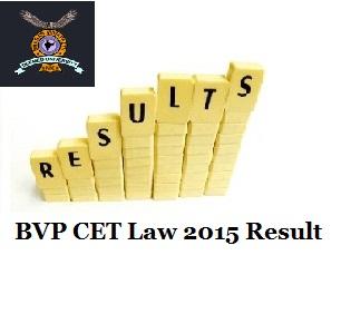 BVP CET Law 2015 Result