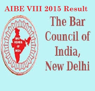 AIBE 2015 VIII Result