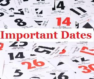 KRLMPCA Medical 2015 Important Dates