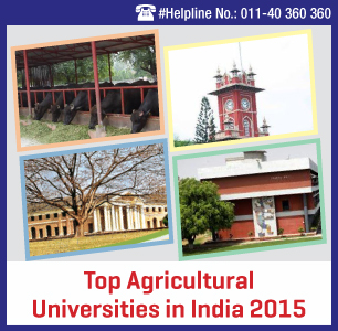 Top Agricultural Universities in India 2015