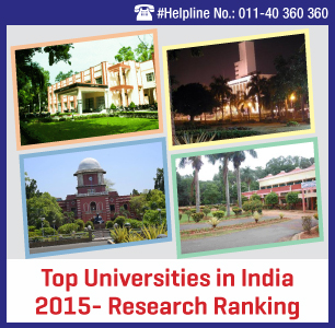 Top Universities in India 2015- Research Ranking