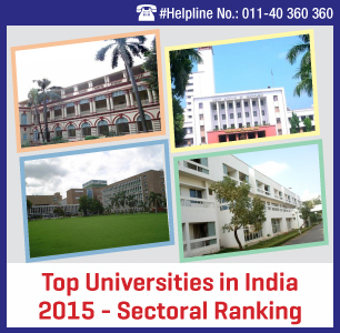 Top Universities in India 2015 - Sectoral Ranking