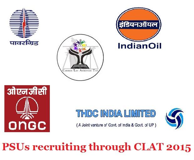 PSUs recruitment through CLAT 2015 for LLM