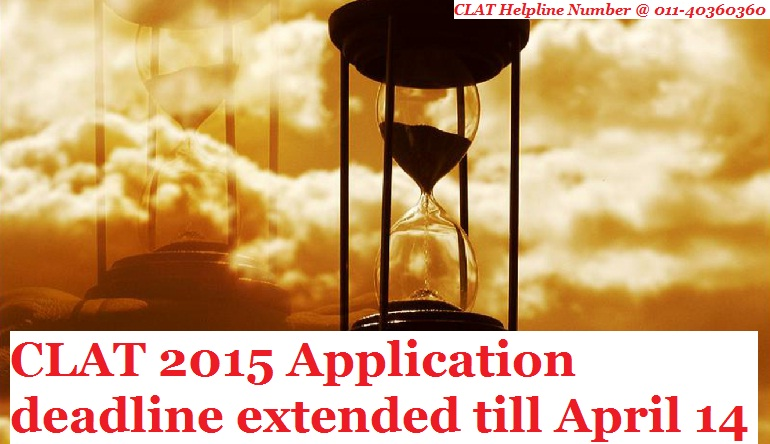 CLAT 2015 Application deadline extended till April 14