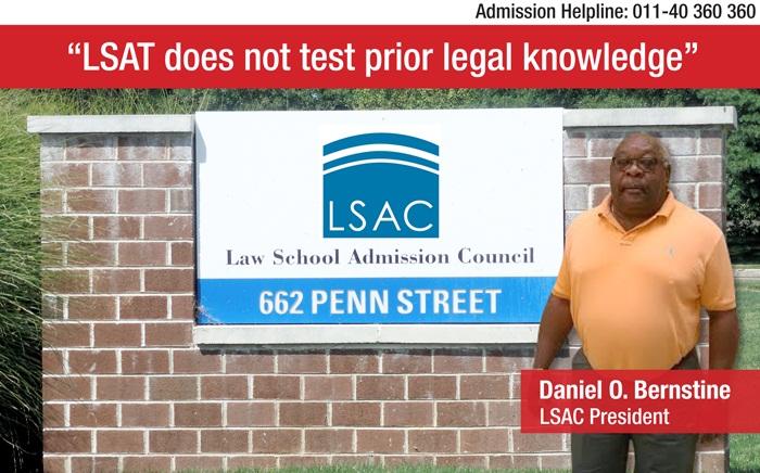 LSAT does not test prior legal knowledge: Daniel O. Bernstine