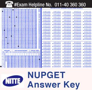 NUPGET 2015 Answer Key
