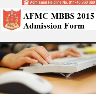 AFMC MBBS 2015 Application Form