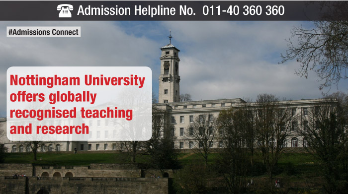 Nottingham University offers globally recognised teaching and research